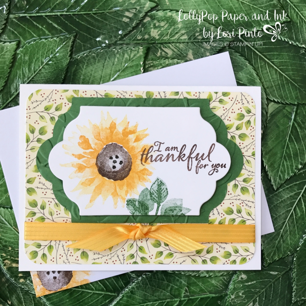 Stampinup!, Painted Harvest, Thankful for You, 2017 Holiday Catalog, by Lori Pinto