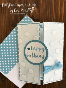 Stampinup!, #tttc010, Polka Dots Embossing Folder, Milestone Moments, Circles by Lori Pinto1