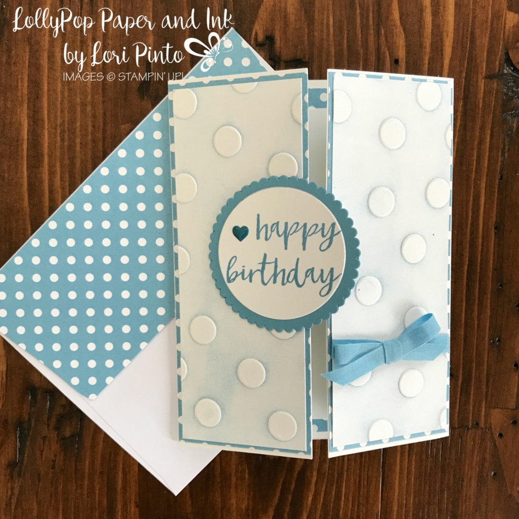 Stampinup!, #tttc010, Polka Dots Embossing Folder, Milestone Moments, Circles by Lori Pinto3