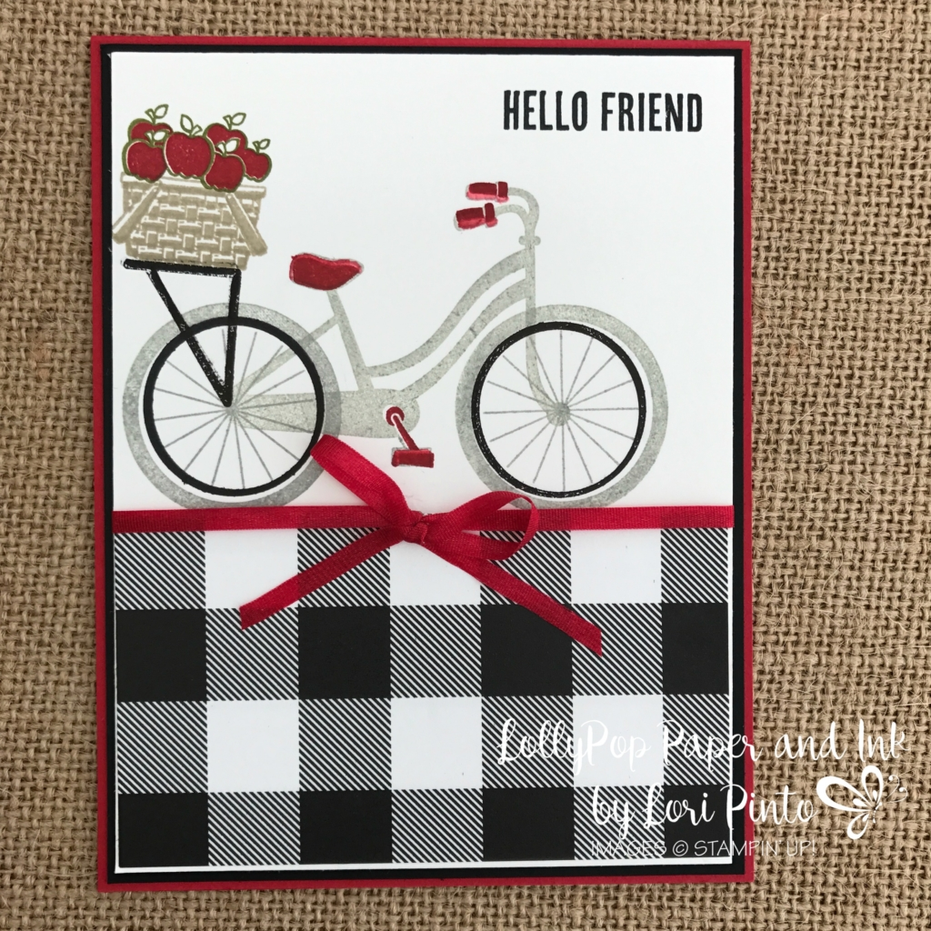 Stampinup!, Bike Ride Stamp Set, Build a Bike Framelits Dies, Wood Words Stamp Set, Hello Friend by Lori Pinto