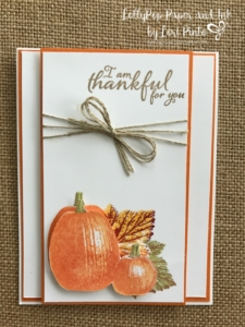 Stampinup!, Gourd Goodness, Painted Harvest, Thankful by Lori Pinto