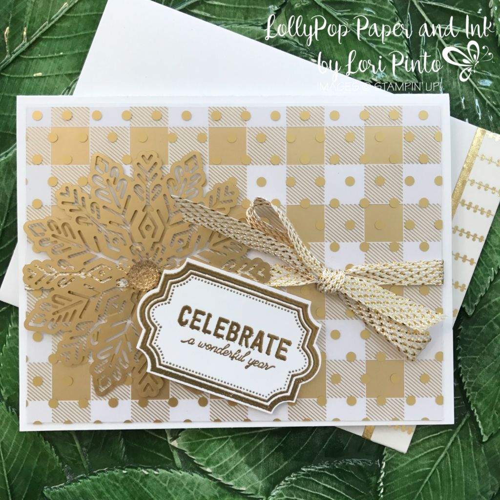 Stampinup!, Labels to Love stamp set, Everyday Label Punch, Year of Cheer Specialty DSP, Foil Snowflakes by Lori Pinto, #tttc014, 1