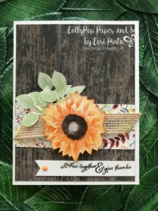 Stampinup!, Painted Harvest stamp set and Leaf Punch, Painted Autumn DSP, Wood Textures DSP Gather Together by Lori Pinto