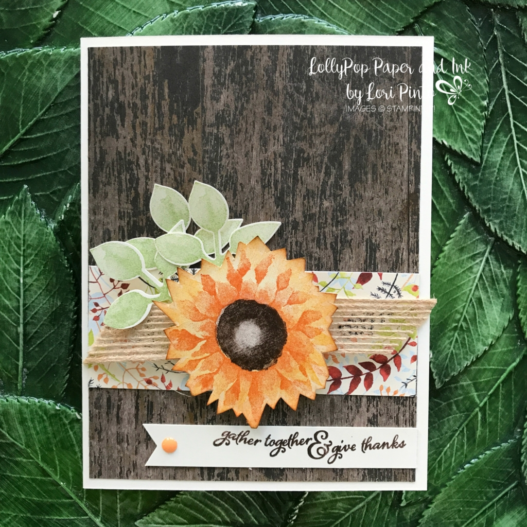 Stampinup!, Painted Harvest stamp set and Leaf Punch, Painted Autumn DSP, Wood Textures DSP Gather Together by Lori Pinto2