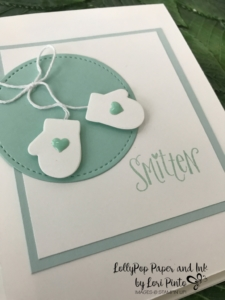 Stampinup!, Smitten Mittens stamp set, Many Mittens Framelits Dies, Baby Card by Lori Pinto 1
