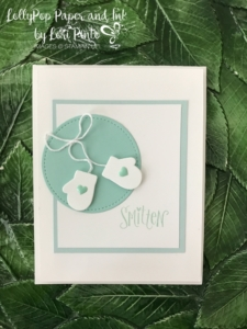Stampinup!, Smitten Mittens stamp set, Many Mittens Framelits Dies, Baby Card by Lori Pinto