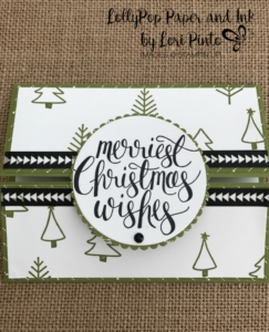 Stampinup!, Watercolor Christmas, Gatefold Card by Lori Pinto