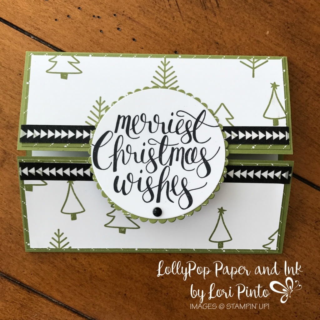 Stampinup!, Watercolor Christmas, Gatefold Card by Lori Pinto2