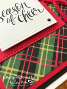 Stampinup!, Watercolor Christmas, Red & Green Plaid by Lori Pinto1
