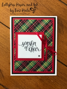 Stampinup!, Watercolor Christmas, Red & Green Plaid by Lori Pinto2