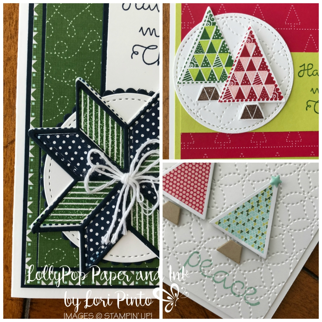 Nov LollyPop Paper to go!, Stampin'Up! Christmas Quilt and Quilted Christmas DSP by Lori Pinto