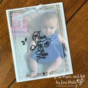 Stampin'Up!, Stampinup!, Card Front Builder Framelits Dies, Peace This Christmas Stamp Set, Photograph Insert Holiday Card by Lori Pinto2