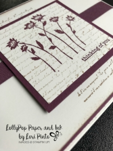 Stampinup!, Stampin' Up!, Background Bits stamp set with Fresh Fig, Thinking of You Card by Lori Pinto