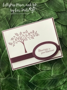 Stampinup!, Stampin'Up!, Thoughts and Prayers Stamp Set with Fresh Fig for a sweet and meaningful sympathy card by Lori Pint