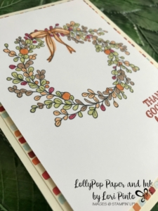 Stampin'Up!, Stampinup!, Feeling of Christmas Stamp Set, Gourd Goodness Stamp Set, Painted Autumn DSP, Stampin' Blends Markers Thankful Card by Lori Pinto