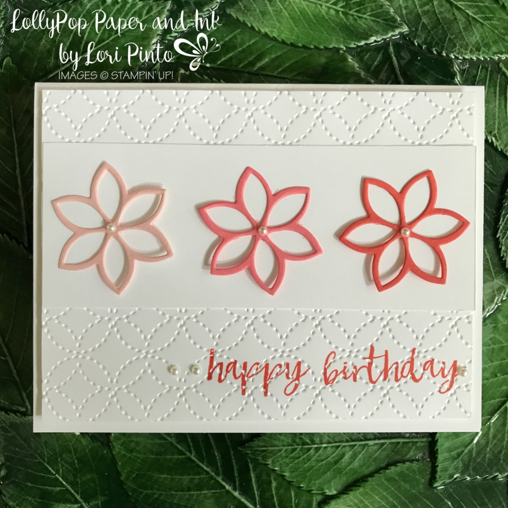 Stampin'Up!, Stampinup!, Quilt Builder Framelits Dies, Quilt Top Textured Impressions Embossing Folder, Milestone Moments Stamp Set Happy Birthday Card by Lori Pinto2
