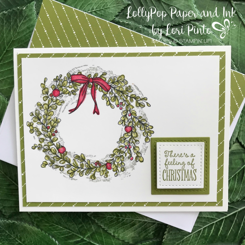 Stampinup!, Stampin' Up!, Feeling of Christmas with Merry Little Christmas DSP and Blender Pens by Lori Pinto2