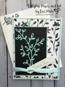 Stampin'Up! Stampinup! Petal Palette Stamp Set and Bundle with Petal Passion DSP Thank You Card by Lori Pinto