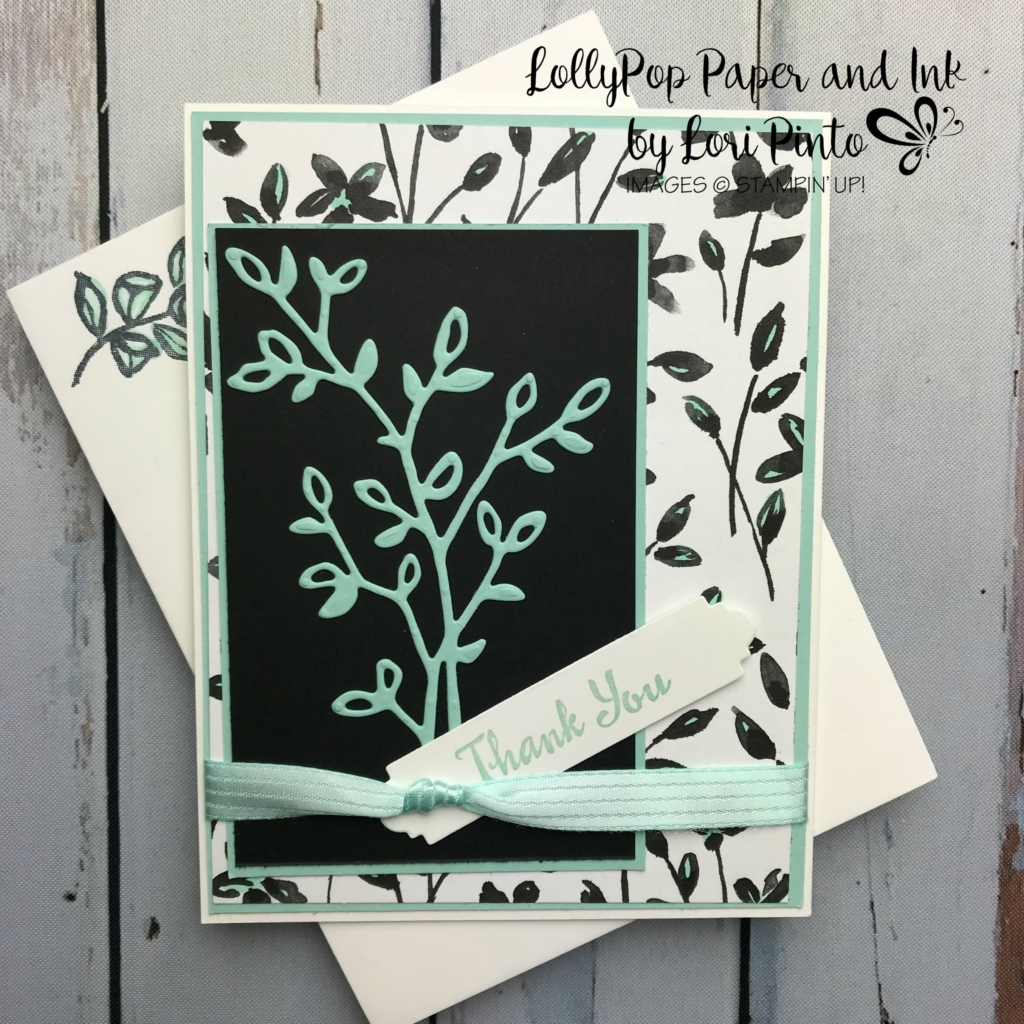 Stampin'Up! Stampinup! Petal Palette Stamp Set and Bundle with Petal Passion DSP Thank You Card by Lori Pinto2