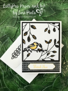 Stampin'Up! Stampinup! Petal Palette Stamp Set and Bundle with Petal Passion DSP Thank You Card with Lori Pinto