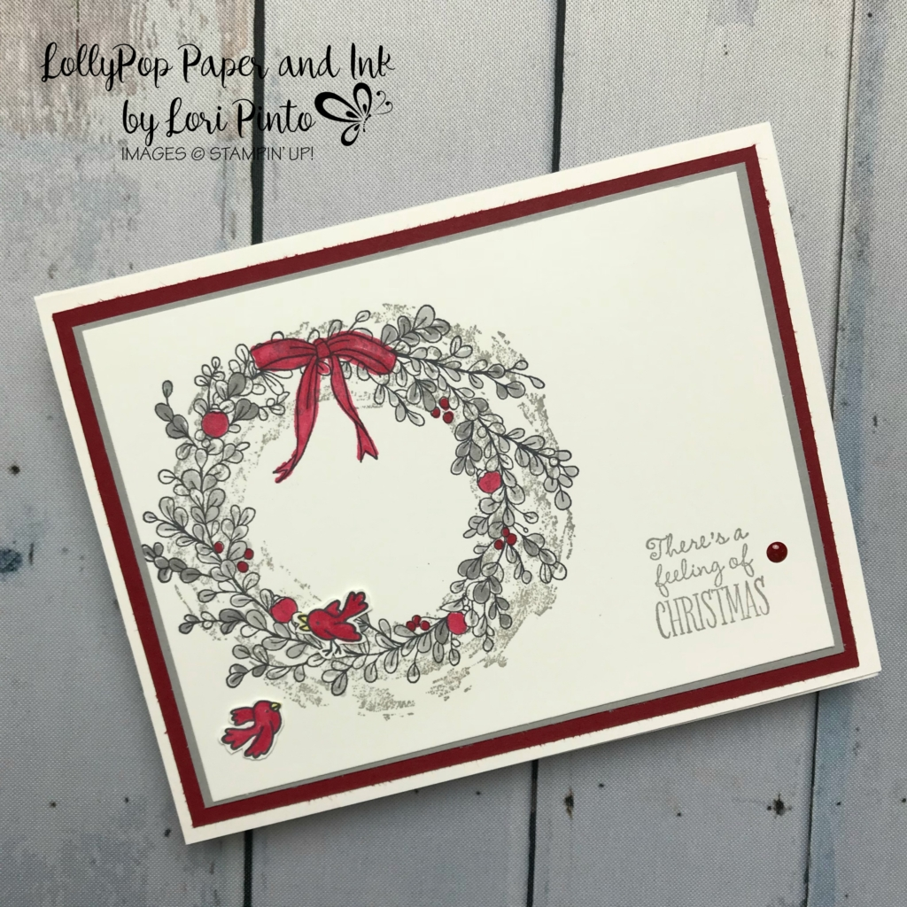 Stampin'Up!, Stampinup!, Retiring Set Feeling of Christmas with little birds from the Flying Home Stamp Set available Jan 3rd when the Occasions Catalog goes live. #loripinto