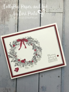 Stampin'Up!, Stampinup! Retiring Stamp Set Feeling of Christmas with sweet birds from Flying Home Stamp Set available Jan 3rd with release of Occasions Catalog. #loripinto