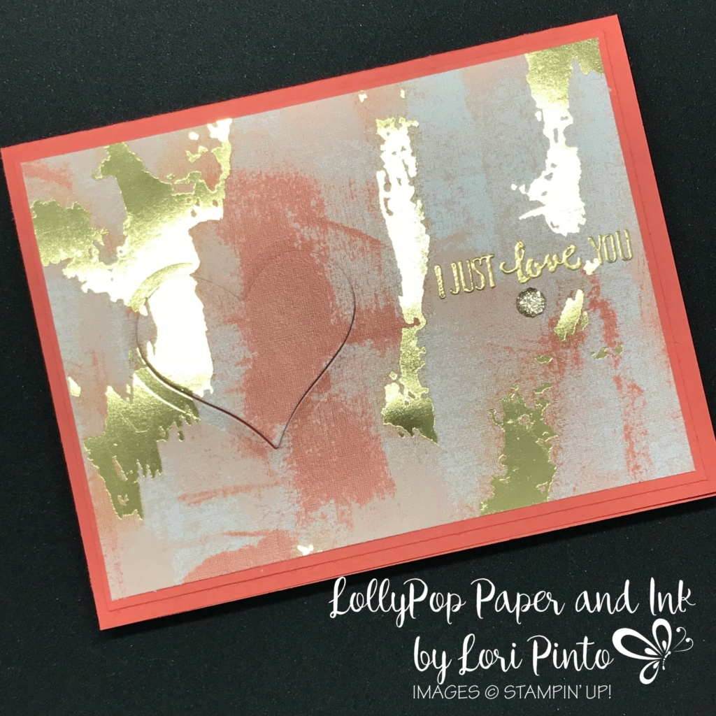 Stampinup! Stampin'Up! Painted with Love DSP Petal Palette Gold Embossing by Lori Pinto3
