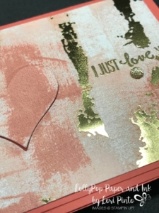 Stampinup! Stampin'Up! Painted with Love DSP Petal Palette Gold Embossing by Lori Pinto4