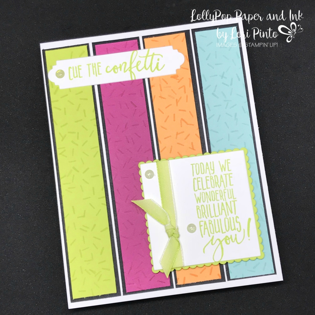 Stampinup! Stampin'Up! Picture Perfect Birthday with Layering Squares Celebrating You Card by Lori Pinto2