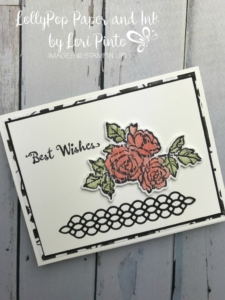 Stampinup! Stampinup! PetalPalette Stamp Set and Bundle Best Wishes by Lori Pinto