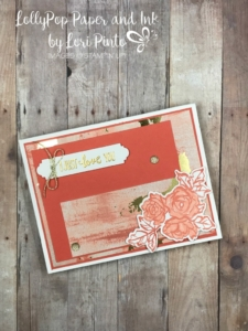 Stampinup! Stampin'Up! Petal Palette Stamp Set and Bundle with Painted With Love Specialty DSP Valentine Love Card by Lori Pinto