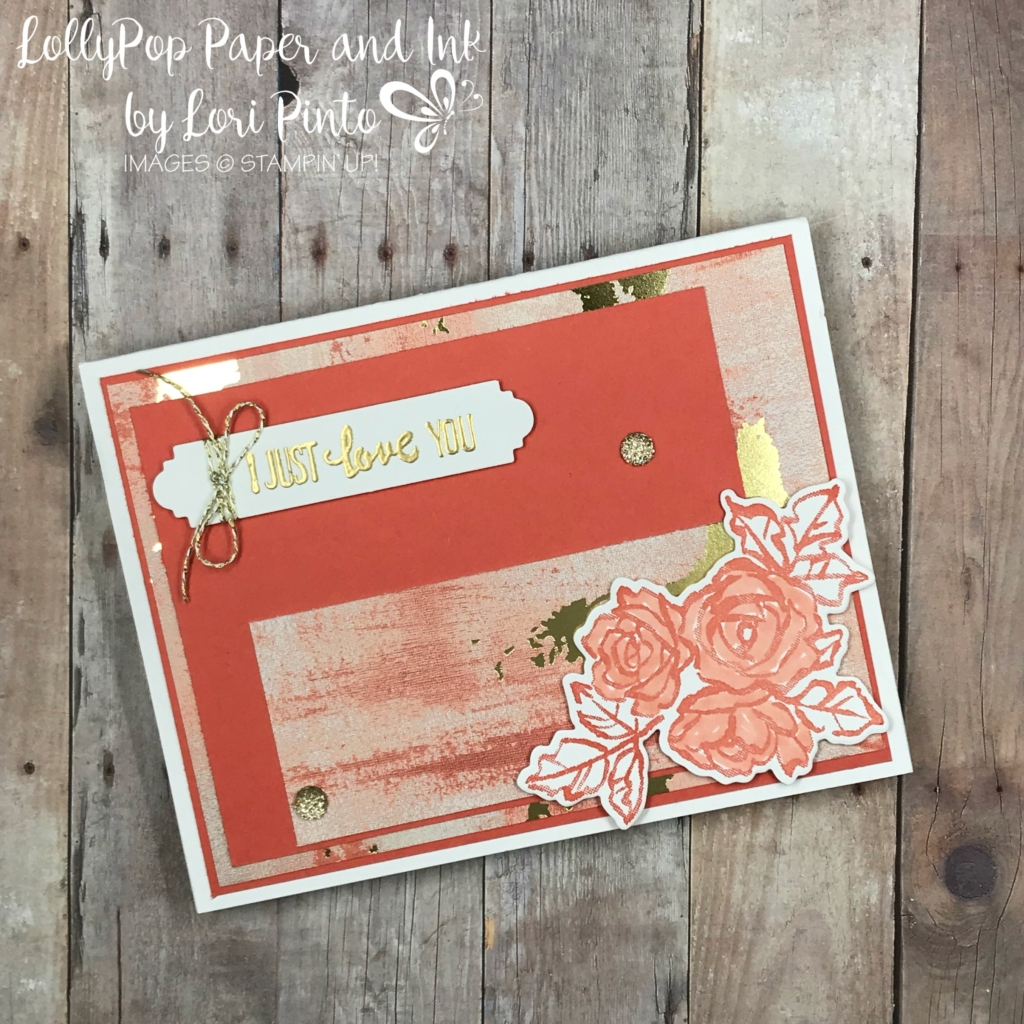 Stampinup! Stampin'Up! Petal Palette Stamp Set and Bundle with Painted With Love Specialty DSP Valentine Love Card by Lori Pinto1