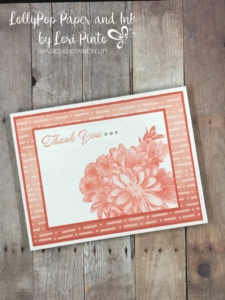 stampinup! stampin up! free sale-a-bration stamp set heartfelt blooms thank you card by lori pinto