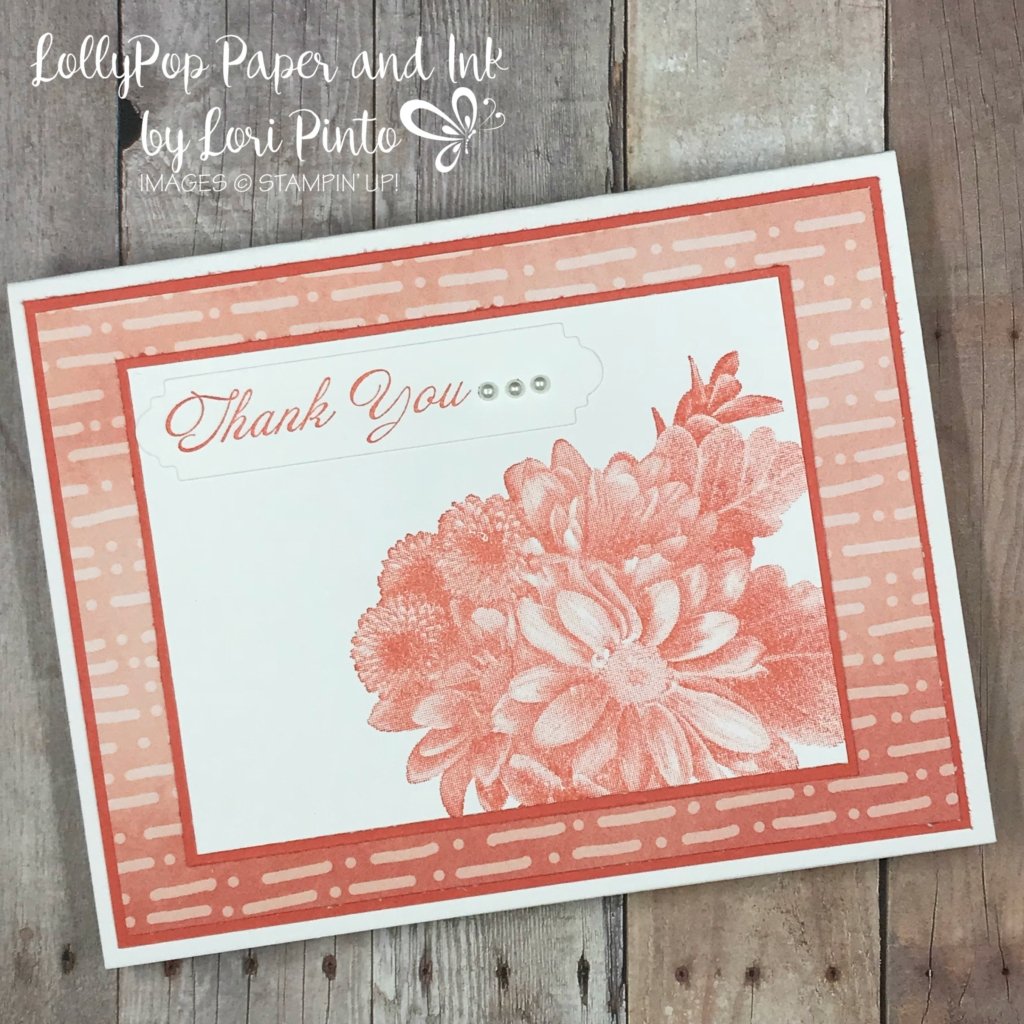 stampinup! stampin up! free sale-a-bration stamp set heartfelt blooms thank you card by lori pinto1