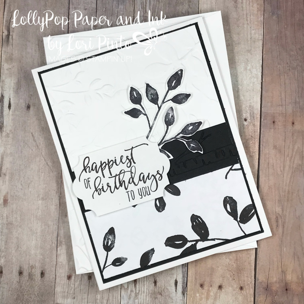 stampinup! stampin'up! petal palette stamp set and bundle happiest birthday card with picture perfect stamp set by lori pinto1