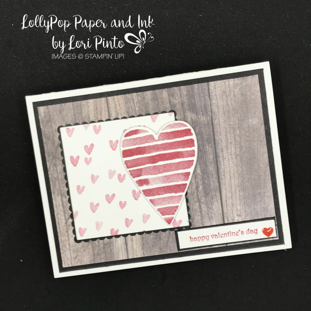 Stampin'Up! Stampinup!, Heart Happiness Stamp Set with Teeny Tiny Wishes Stamp Set for Valentine's Day by Lori Pinto