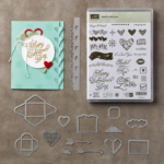 Sealed with Love, Sending Love, Hexagon Embossing Folder, Falling in Love Embellishments