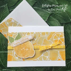 Stampin'Up! Clean and Simple Mini Note Cards, Lemon Zest