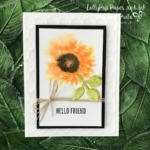 Watercolor Sunflower with Painted Harvest