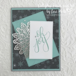 Stampinup!, Watercolor Christmas, Merry Little Christmas DSP, Foil Snowflake, Oh Joy by Lori Pinto