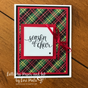 Stampinup!, Watercolor Christmas, Red & Green Plaid by Lori Pinto