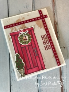 Stampin'Up!, Stampinup!, At Home With You Stamp Set, At Home Framelits Dies, Labels to Love Christmas Door by Lori Pinto