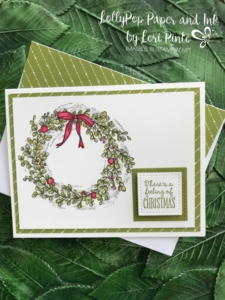 Stampinup!, Stampin' Up!, Feeling of Christmas with Merry Little Christmas DSP and Blender Pens by Lori Pinto