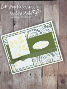 stampinup! stampin'up! petal palette stamp set, bunch of blossoms stamp set with delightful daisy dsp by lori pinto