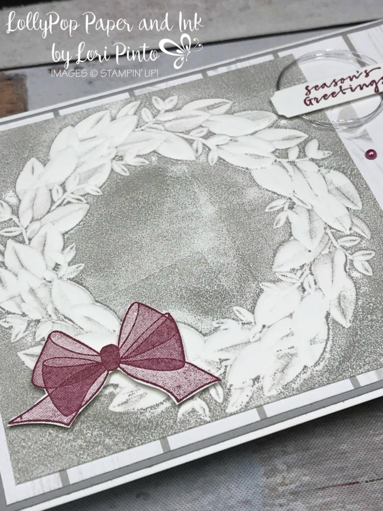 Stampin Up Stampinup Seasonal Wreath Dynamic Embossing Folder