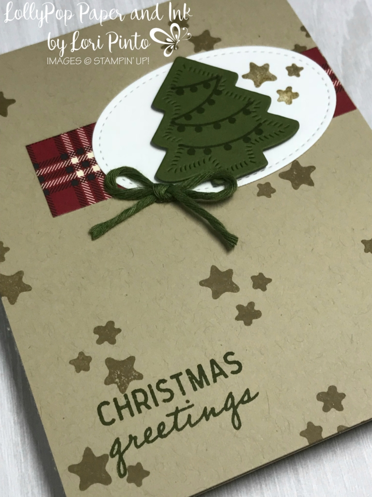 Stampin'Up! Stampinup! Christmas Greetings Holiday Card with Nothing Sweeter Stamp Set and Bundle and Festive Farmhouse DSP by Lori Pinto2